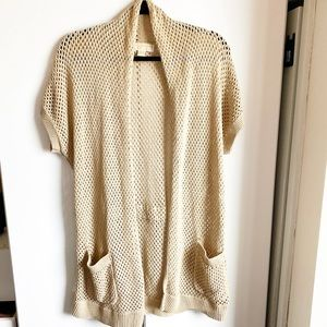 Michael Kors beige knitted cardigan